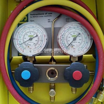 瑞士REFCO威科充氟压力表BM2-6-DS-R22/R134A/R404雪种压力表