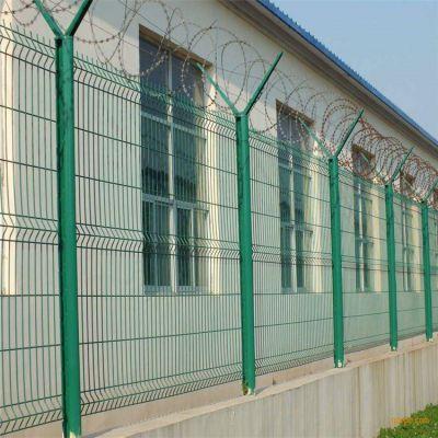 厂家供应 监狱防攀爬护栏网 浸塑铁丝安全护栏网
