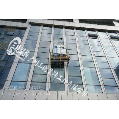 广州高空吊装玻璃-高空作业施工-高空安装-高空玻璃维修更换安装-高空吊家具-拆玻璃