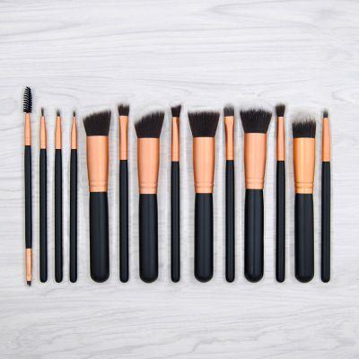 kainuoa/凯诺工厂批发14支化妆刷玫瑰金色美妆工具代理