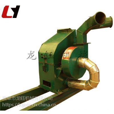 小型带绞龙自动进料粉碎机 质保高粱秸秆粉碎机