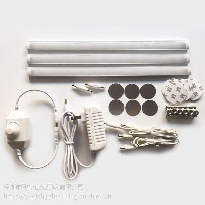 雅祺热销LED超薄橱柜灯套装 磁铁吸附线条灯 12V可调光楼道照明灯条
