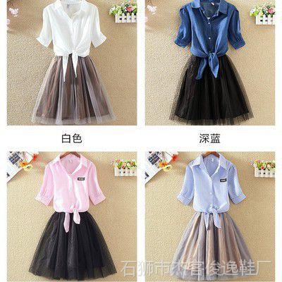 中学生夏季15初中生公主连衣裙12大童少女装14-16岁女孩网纱裙子