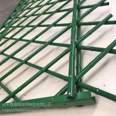 海泽供应景区装饰竹子护栏 不锈钢防锈仿竹篱笆护栏 庭院围栏