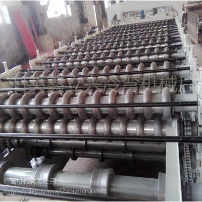 德誉专业生产三层压瓦机 冷弯机 彩钢设备质量棒棒的