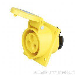 启星QX.413-4 3芯16A IP44暗装插座/防水工业插头插座/工业插座
