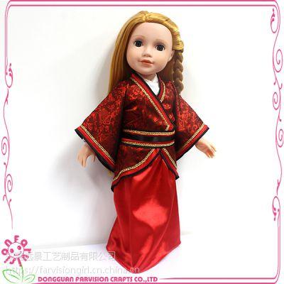 厂家直销46cm古装芭比娃娃衣服仿真美国女孩娃娃儿童[衣服鞋子可换]