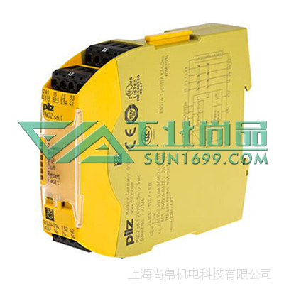 上海尚帛(bo)机电PILZ皮尔磁750126_PNOZ s6.1 24VDC 3 n/o安全继电器