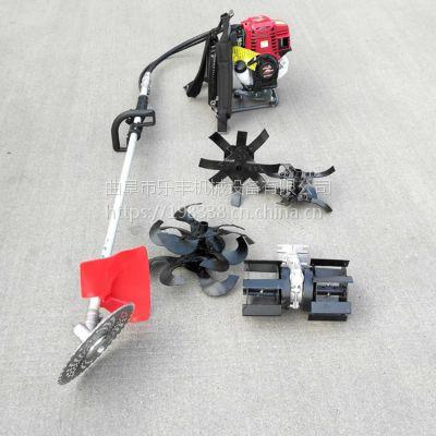 大棚果园小型汽油背负式除草机便携式汽油锄草机