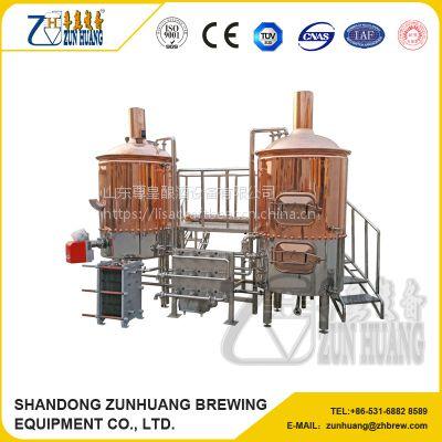 尊皇ZH-500L 紫铜啤酒酿造设备
