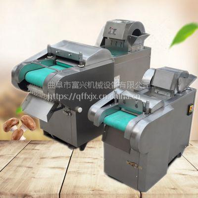 富兴可调蒲公英叶切段机 大产量芹菜切丁机 多功能不锈钢切丝机图片