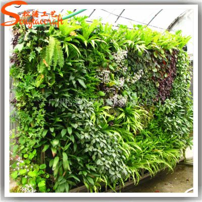 厂家直销仿真植物墙草墙人造草墙仿真花批发定制家居装饰