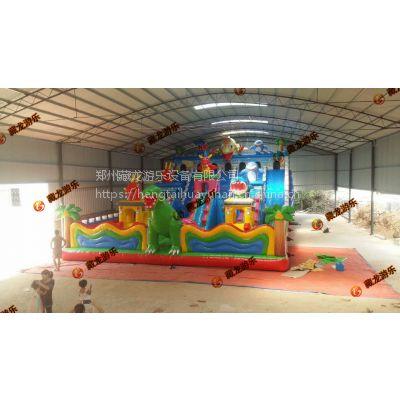 冬季里做生意充气玩具滑梯 暖身亲子充气蹦床乐园 室外攀岩钻洞城堡定制