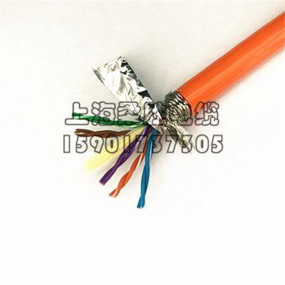 上海柔胜- PU聚氨酯水下机器人电缆10芯5对双绞网线/通讯信号线/监控视频线