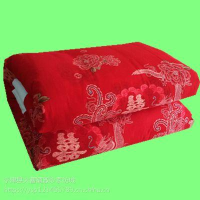 手工纯棉花传统结婚被子喜被复古龙凤红色春秋棉被单双人冬被加厚