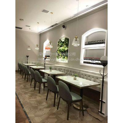 龙华咖啡厅西餐厅桌椅定制