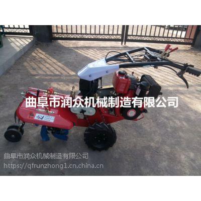 菜园种植柴油田园管理机 自走手扶式开沟机 柴油电启风冷管理机