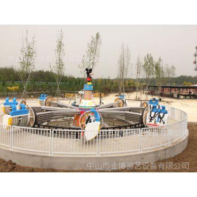 户外大新游乐设备厂家 金博新款游乐设施翻滚音乐船 大型游乐设施