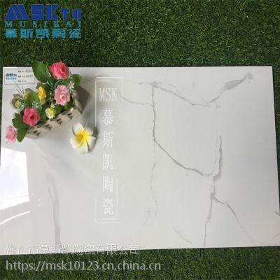 慕斯凯陶瓷简约现代400x800客厅爵士白通体大理石瓷砖耐磨防滑亮面地板砖