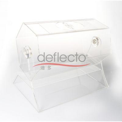 新款有机玻璃投票箱,透明募捐箱,意见收集箱,透明抽奖箱,亚克力定做加工