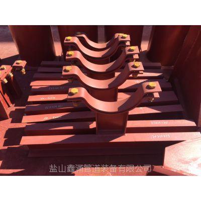 河北碳钢全圆重型管夹DN200长头对半型管夹现货供应