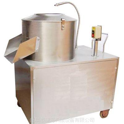 澜海 梅州旋转式土豆脱皮机 食品级不锈钢350型商用马铃薯去皮机厂家