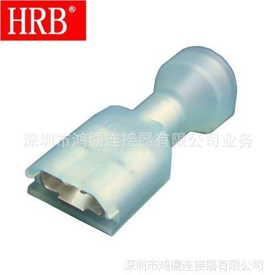 HRB 250直型尼龙全绝缘冷压母端 蓝色16-14# 替代3-350820-2单粒