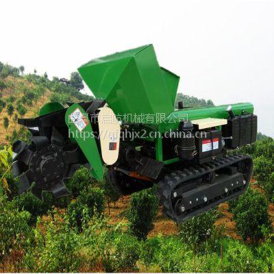 农用履带开沟机 柴油旋耕除草机 履带式开沟施肥回填机