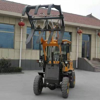 高效节油的单杠轮式装载机 运行可靠的家用铲车 加强底盘的上料机