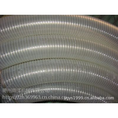 PU优质钢丝透明钢丝伸缩管聚氨酯材质厂家提供德州雨泽
