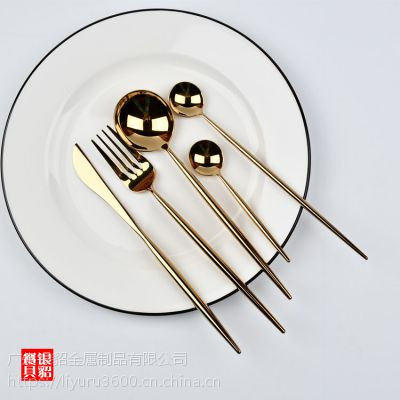 葡萄牙 里昂本色 镜面 304不锈钢刀叉勺 亮光刀叉餐具 牛排刀叉
