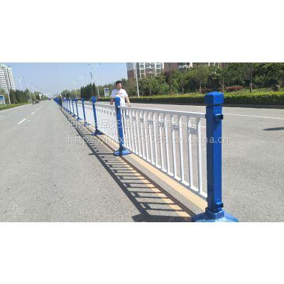 现货供应道路隔离栏驾校小区道路车辆分离栏杆人行道路广告板护栏
