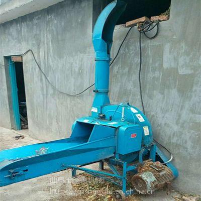 大型干湿两用秸杆铡草机 自动进料切草机 圣鲁碎草机
