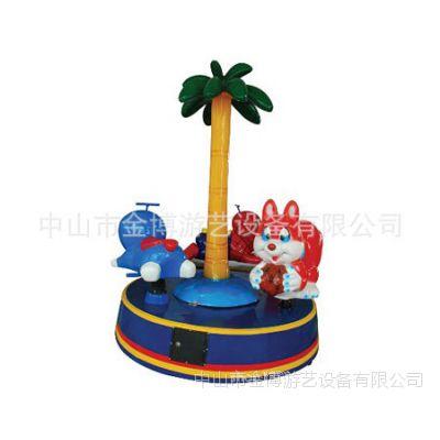 儿童游乐设备厂家三人豪华转马 迷你旋转木马游乐设备