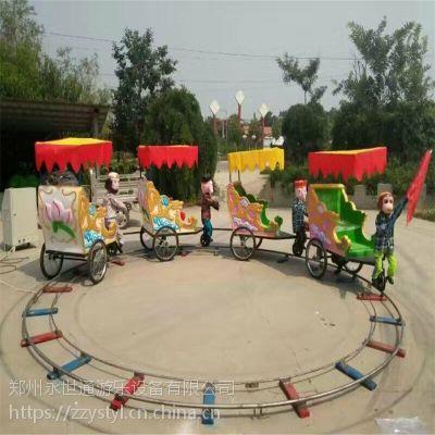 猴子拉车游乐设备广场电瓶儿童轨道小猴拉车厂家小猴