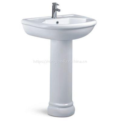 定制批发卫生间陶瓷大容量立柱盆洗脸盆