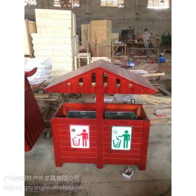 防腐木垃圾桶 园林垃圾桶 景观垃圾桶 来图定做