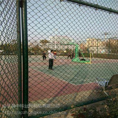 中科Q235铁丝包塑勾花网 球场围栏勾花网 菱形网