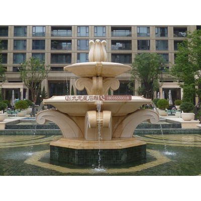 供应小区别墅景观摆件大理石水钵 景观石材喷泉 广场雕塑
