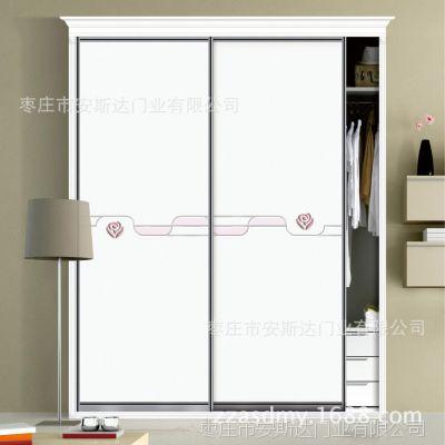 工厂直销欧式简约衣柜门定制木塑吸塑玻璃室内衣柜门推拉门定做