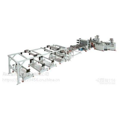 苏州金纬机械PP聚丙烯石粉环保片材生产线