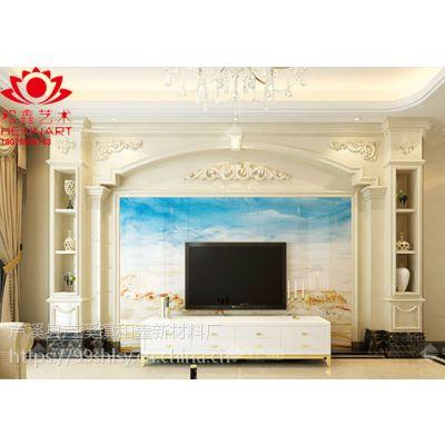 岳阳人造石罗马柱电视背景墙,幕墙主体来图定制 厂家直销 生产厂家价格