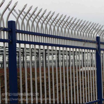 小区围墙翻新工程用防爬防护栏 锌钢围栏 别说围墙围栏