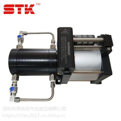 新型环保制冷剂增压泵 冷媒氟利昂增压灌装机 气动增压设备
