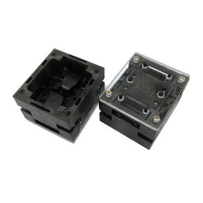QFN8 DFN8 探针老化座 5×6mm 1.27间距 下压顶窗 芯片测试座工