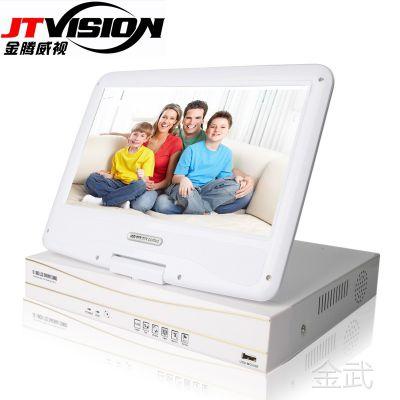 10寸带屏NVR  4路硬盘录像机 高清1080P监控显示器一体机