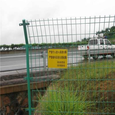高速公路护栏网 施工场地防护网 济南双边丝护栏网厂家