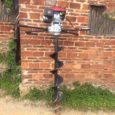 便携式栽树打坑机 普航轻便小型钻眼机批发 拖拉机挖坑机哪里有卖的