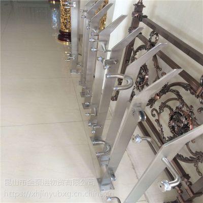 金裕 现货供应不锈钢拐角栏杆 楼梯栏杆立柱