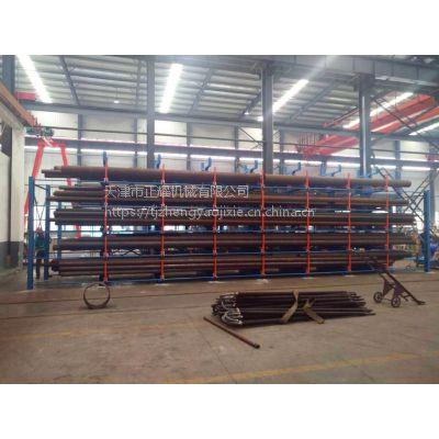 河南超长管材货架 伸缩悬臂式货架价格 全国独创钢管架 12米管材存放架